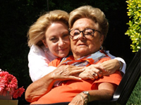Hillary Abrams and her mother, at home in Marietta, Georgia